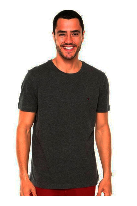 Camiseta Tommy Hilfiger Gola Redonda Cinza Escuro - Carmim Modas 3648689c293e3