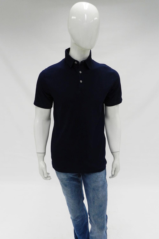 e801618b9d2 Camisa Polo Individual Slim Fit Meia Manga Azul - Carmim Modas