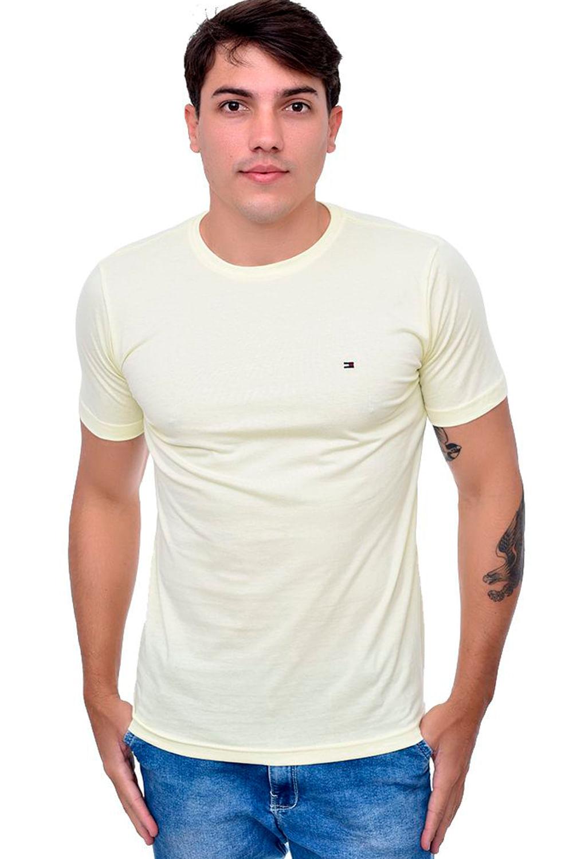 Camiseta Tommy Hilfiger Gola Redonda Amarelo - Carmim Modas e6f57ad20a4a7