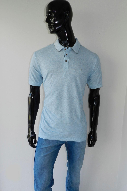 b04e562ccc Camisa Polo Individual Comfort Azul Claro - Carmim Modas
