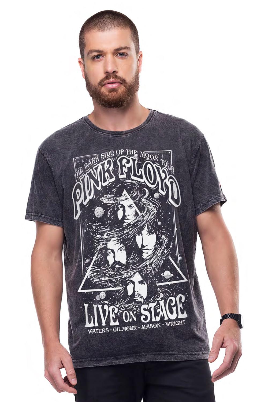 Camiseta Liverpool Estonada Pink Floyd Stage Preto - Carmim Modas 48e0da4afbc14