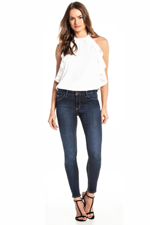 b171a4761 Calça Jeans Lado Avesso Jegging Azul - Carmim Modas