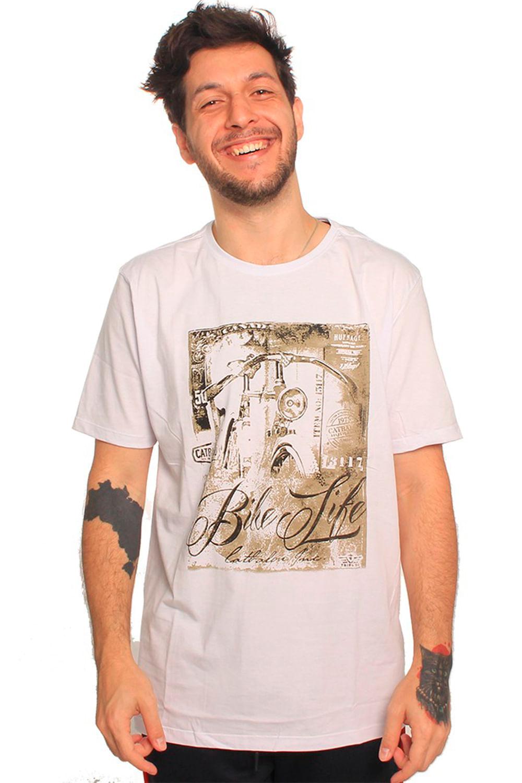 Camiseta Tributo Bike Life Branco - Carmim Modas 6b2f809fe6d7e