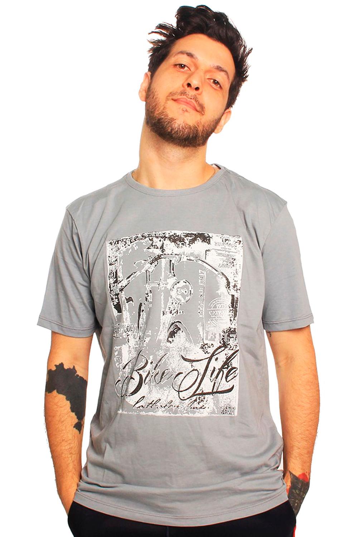 Camiseta Tributo Bike Life Cinza - Carmim Modas 954a5964f021a