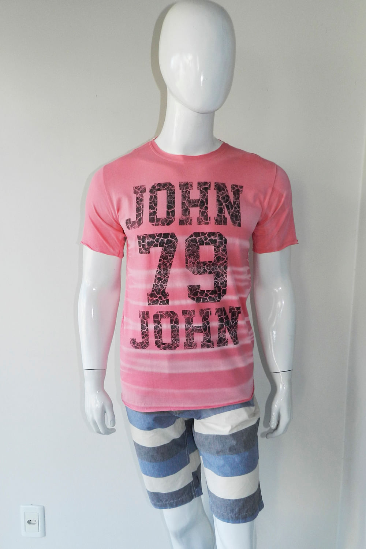 ff5d768467 Camiseta John John 79 Rosa - Carmim Modas