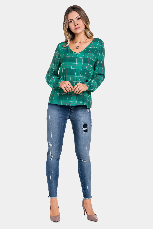 a1a5f8ad46 Blusa-Lunender-Xadrez-Verde - Carmim Modas