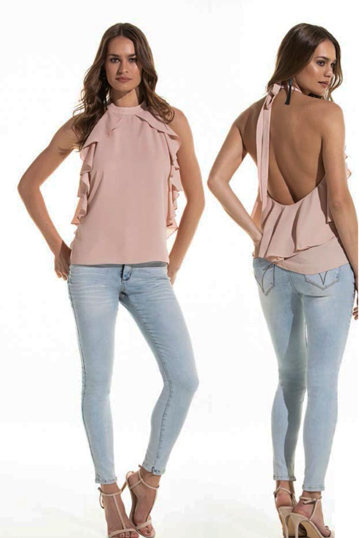 b30005059 Calça Jeans Lado Avesso Curve Jegging Azul Claro - Carmim Modas