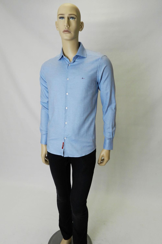 52fa3777a Camisa Z Aramis Menswear Maquinetada Azul - Carmim Modas
