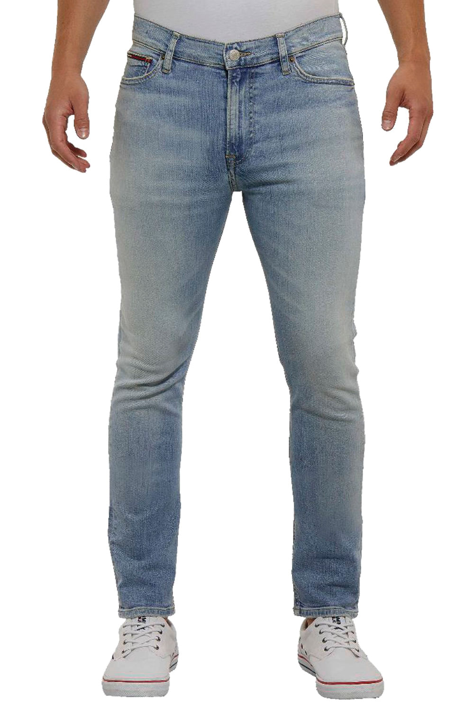 4f479b81720b96 Calça Jeans Tommy Hilfiger Skinny Simon Azul Claro