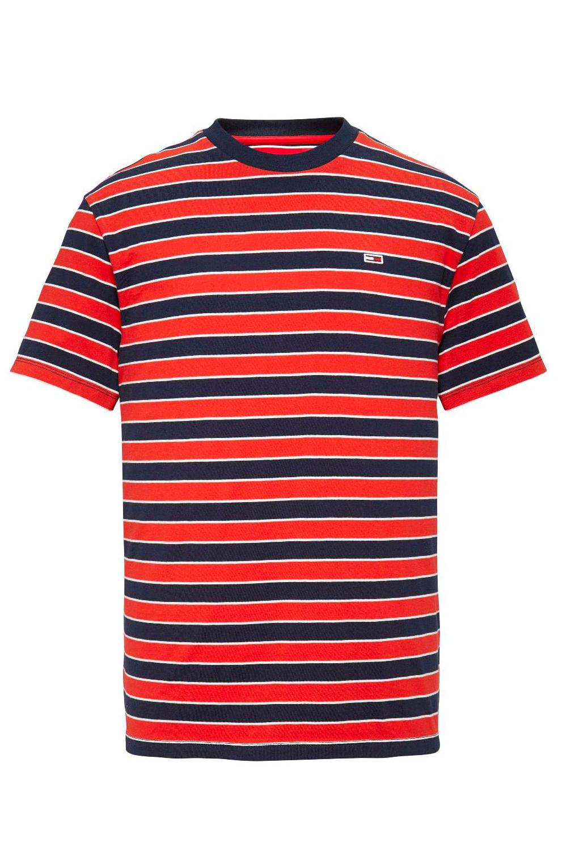 e893137bd Camiseta Tommy Hilfiger Listrada Vermelho - Carmim Modas
