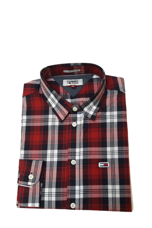 3fa060ce2 Camisa Tommy Hilfiger Xadrez Vermelho - Carmim Modas