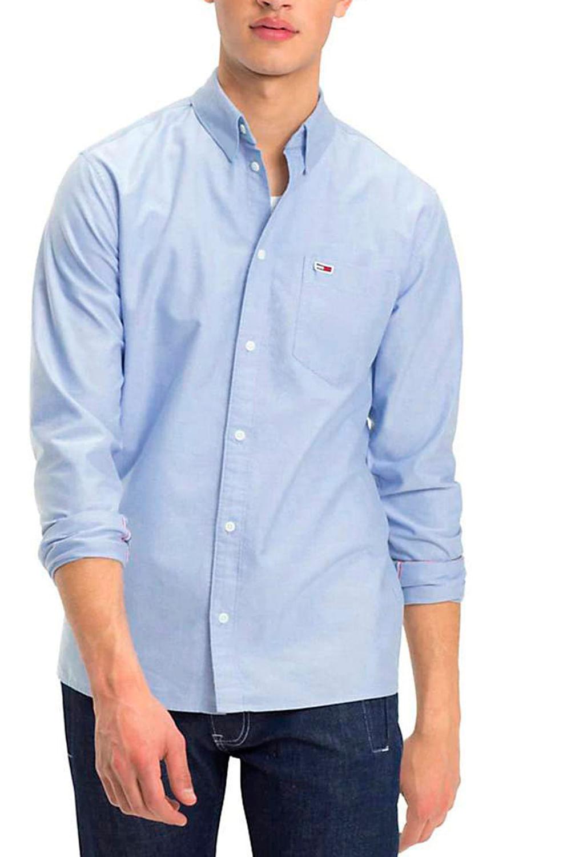 55425e791b Camisa Tommy Hilfiger Slim Fit Azul Claro - Carmim Modas